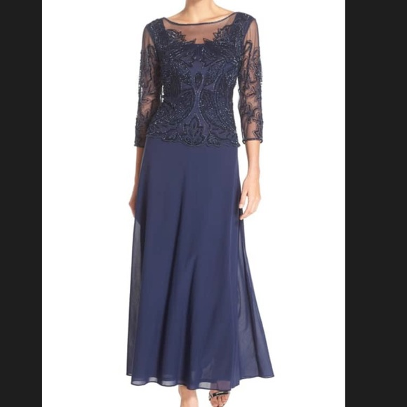 Pizarro Nights Embellished Mesh Long Gown - NEW! 1a779cb81